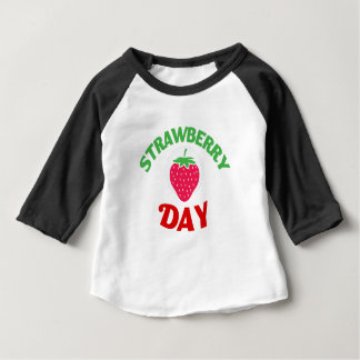 27th February - Strawberry Day Baby T-Shirt