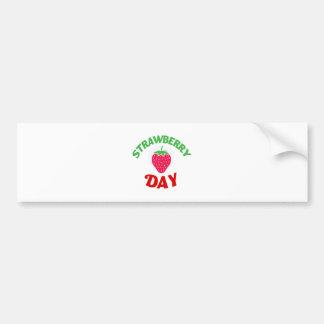 27th February - Strawberry Day Bumper Sticker