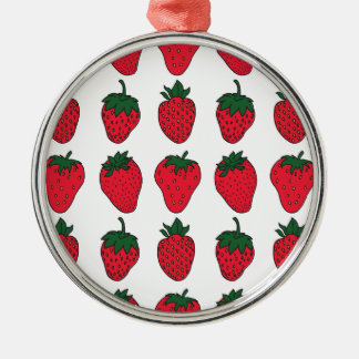 27th February - Strawberry Day Metal Ornament