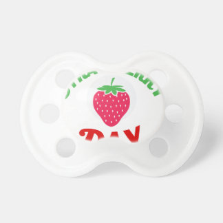 27th February - Strawberry Day Pacifiers