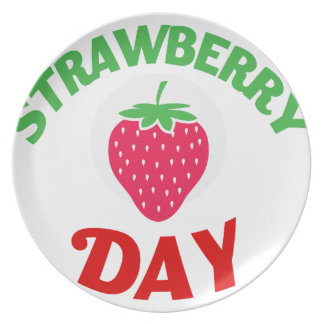 27th February - Strawberry Day Party Plates