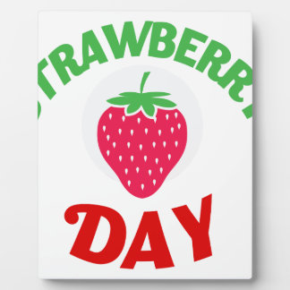 27th February - Strawberry Day Plaque