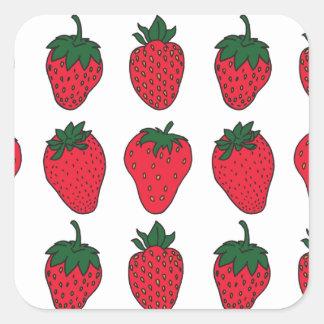 27th February - Strawberry Day Square Sticker