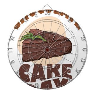 27th January - Chocolate Cake Day Dartboard With Darts