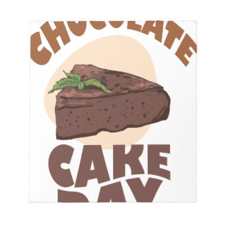 27th January - Chocolate Cake Day Notepad