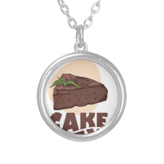 27th January - Chocolate Cake Day Silver Plated Necklace