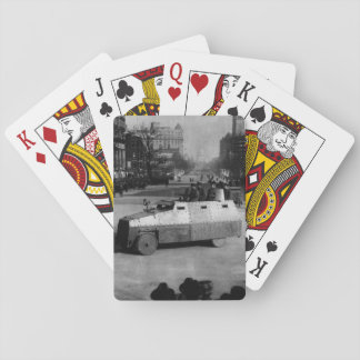 27th March 1917:  The armoured vehicle squadron Playing Cards