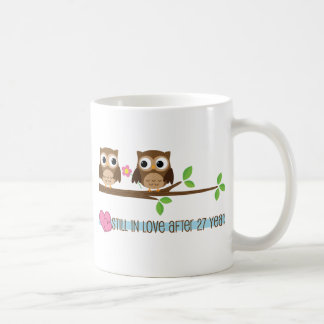 27th Wedding Anniversary Owls Coffee Mug