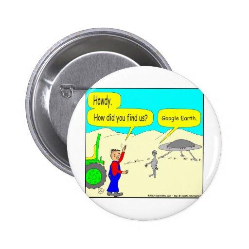 280 Google Earth Cartoon in color Pin