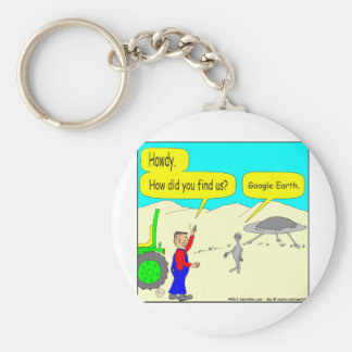 280 Google Earth Cartoon in color Key Chain