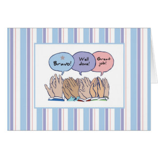 2858 Clapping Hands, Job Well Done Card