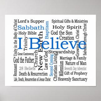 28 Beliefs - Seventh-Day Adventist Poster
