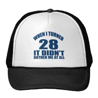 28 Birthday Designs Trucker Hat