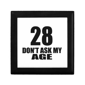 28 Do Not Ask My Age Birthday Designs Gift Box