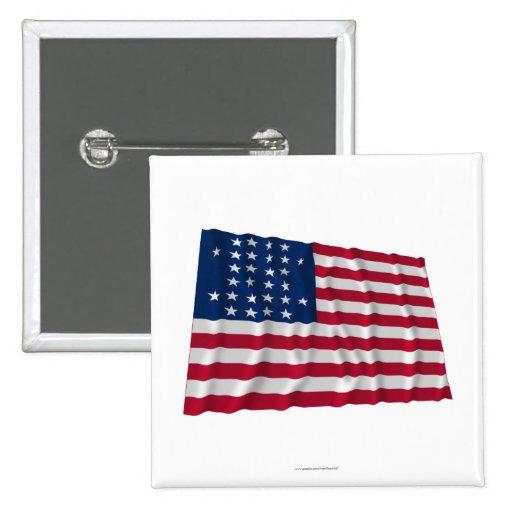 28-star flag pinback button