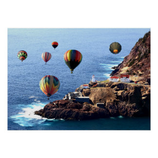"28"" x 20"", Value Poster Paper Hotair Balloons Newf"