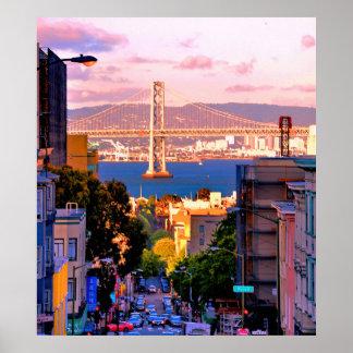 28 X 31 PREMIUM CANVAS SAN FRANCISCO CITY POSTER