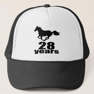 28 Years Birthday Designs Trucker Hat