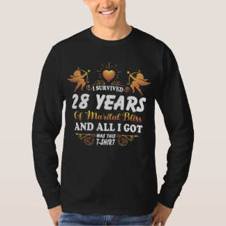 28th Anniversary Shirt For Husband Wife.
