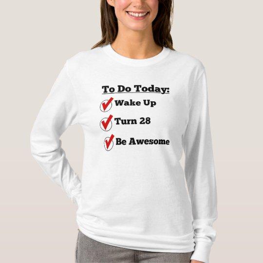 28th Birthday Checklist T-Shirt