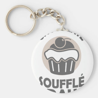 28th February - Chocolate Soufflé Day Basic Round Button Keychain