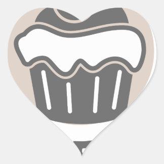 28th February - Chocolate Soufflé Day Heart Sticker