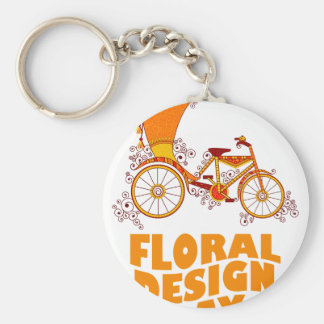 28th February - Floral Design Day Basic Round Button Keychain