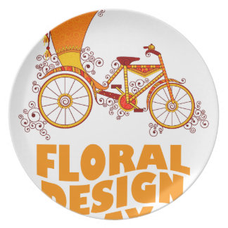 28th February - Floral Design Day Party Plate