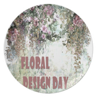 28th February - Floral Design Day Party Plates