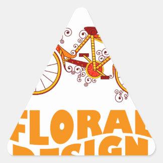 28th February - Floral Design Day Triangle Sticker