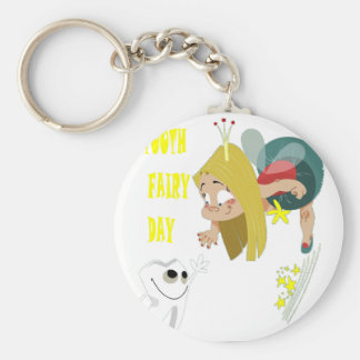 28th February - Tooth Fairy Day - Appreciation Day Basic Round Button Keychain