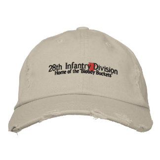 28th Infantry Division Embroidered Baseball Caps