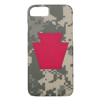 """28th Infantry Division """"Keystone Division"""" Camo iPhone 7 Case"""