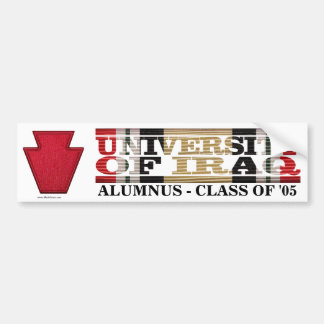 28th Infantry Division U of Iraq Alumnus Sticker Bumper Sticker