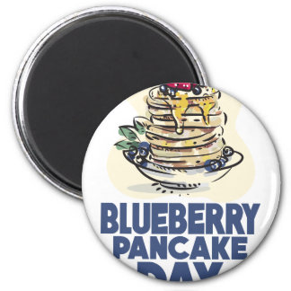 28th January - Blueberry Pancake Day 2 Inch Round Magnet
