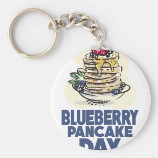 28th January - Blueberry Pancake Day Basic Round Button Keychain