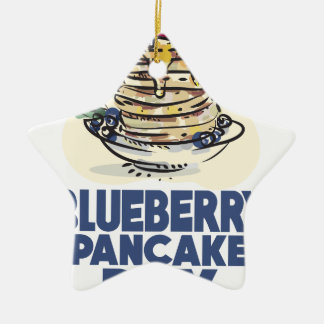 28th January - Blueberry Pancake Day Ceramic Ornament