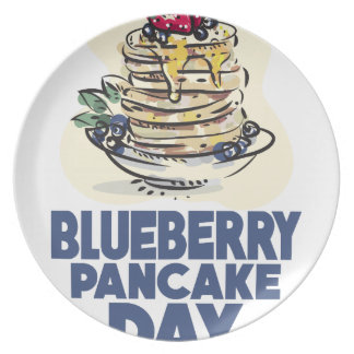 28th January - Blueberry Pancake Day Plate