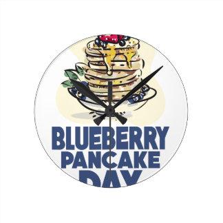 28th January - Blueberry Pancake Day Round Clock