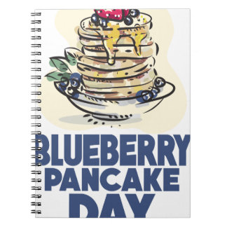 28th January - Blueberry Pancake Day Spiral Notebook