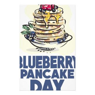28th January - Blueberry Pancake Day Stationery