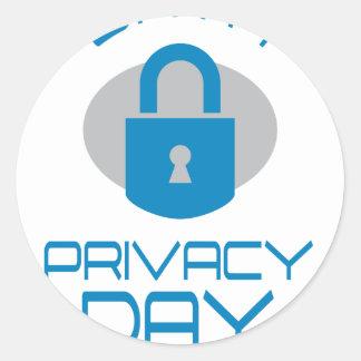 28th January - Data Privacy Day - Appreciation Day Classic Round Sticker