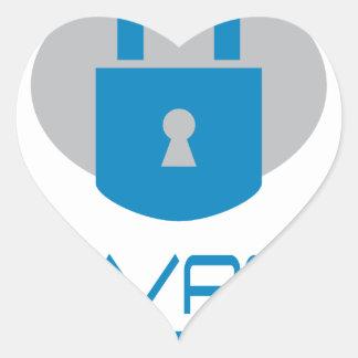 28th January - Data Privacy Day - Appreciation Day Heart Sticker