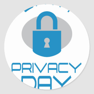 28th January - Data Privacy Day - Appreciation Day Round Sticker