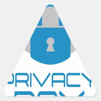 28th January - Data Privacy Day - Appreciation Day Triangle Sticker