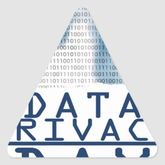 28th January - Data Privacy Day Triangle Sticker