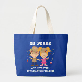 28th Wedding Anniversary Funny Gift For Her Canvas Bags