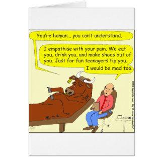 290 mad cow cartoon card