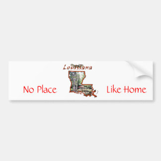 2955620-Travel_Picture-Louisiana, Like Home, No... Bumper Sticker