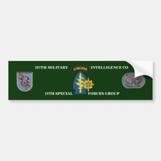 297TH MILITARY INTELLIGENCE COMPANY BUMPER STICKER